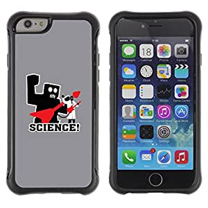 KEIZZ Cases / Apple Iphone 6 / Science Rocks Rules - Funny / Robusto Prueba de choques Caso Billetera cubierta Shell Armor Funda Case Cover Slim Armor