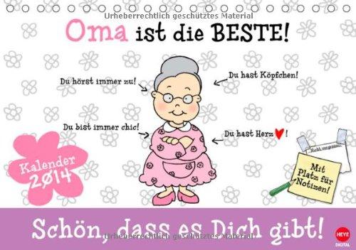 Oma ist die Beste (Tischkalender 2014 DIN A5 quer): EIn Kalender-Geschenk für die liebste Oma! (Tischkalender, 14 Seiten)