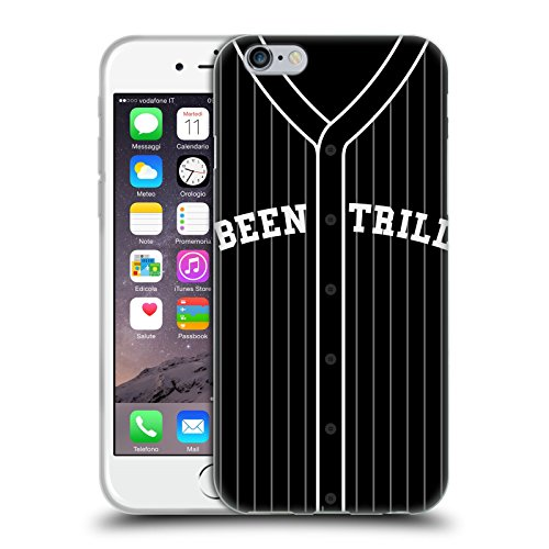Official Been Trill Black Uniform Jersey Soft Gel Case for Apple iPhone 6 / 6s