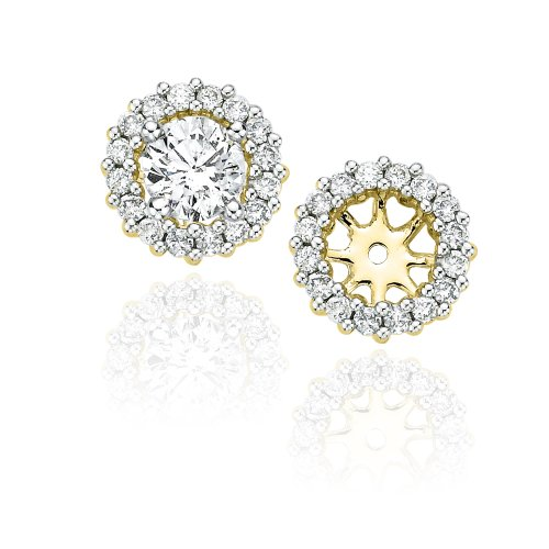 Diamond Earring Jackets in 14K Yellow Gold (1/2 cttw, Color GH, Clarity I2-I3) by KATARINA