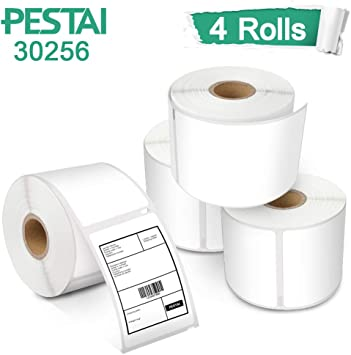 """5 Rolls 30256 White Labels 2 5//16/"""" x 4/"""" Compatible for DYMO LabelWriter 320 450"""