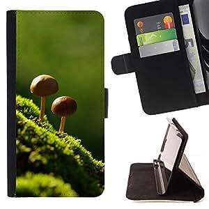 Momo Phone Case / Flip Funda de Cuero Case Cover - Naturaleza Hermosa Forrest verde 8 - Apple Iphone 6
