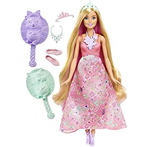 Barbie Dreamtopia Color Stylin' Princess Doll, Pink