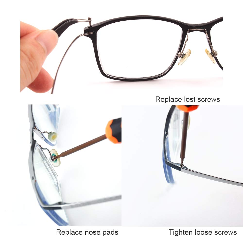 Buy Eyeglass Repair Kit Glasses Precision Screwdriver Set With Stainless Steel Screws For Glasses Eye Glass Sunglass Repair Online At Low Prices In India Amazon In