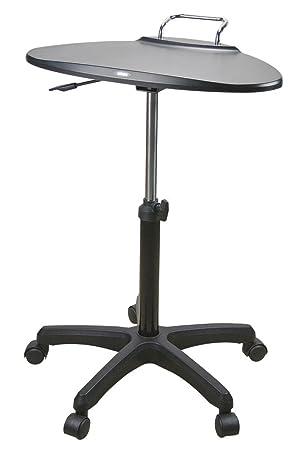 Aidata 73133 - Soporte con mesa ajustable de 4 ruedas para ordenador portátil, negro: Amazon.es: Informática