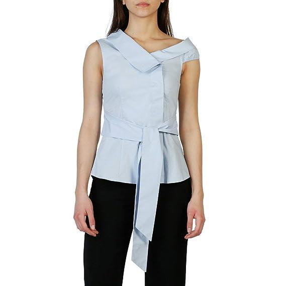 big sale 07137 c7689 Pinko Top Donna Blu (1G12YZ_Y48F): Amazon.co.uk: Clothing