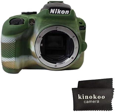 Funda protectora de silicona Kinokoo compatible con Nikon D3400 ...