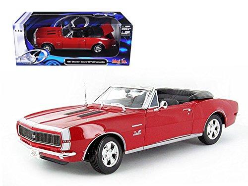 Maisto 1967 Chevrolet Camaro SS 396 Convertible Red 1/18 Model Car