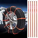 Emergency Tire Chains Set WINOMO 5Pcs Tyre Chains Car Anti-skid Chain for Sedan SUV Light Pickup Truck