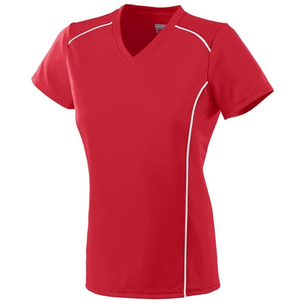Augusta Sportswear SHIRT レディース B00IUJCJT8 XX-Large|レッド/ホワイト レッド/ホワイト XX-Large