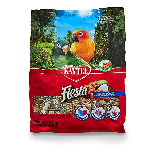 Kaytee Fiesta Gourmet Variety Bird Food for Conures, 4-1/2-Pound Bag by Kaytee