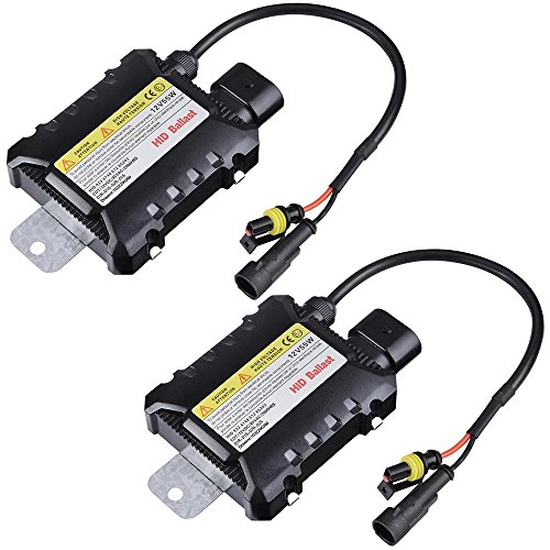 Yescom 12V 55W HID Ballast Replacement Universal for Xenon Light H1 H3 H7 H8 9005 9006 Pack of 2