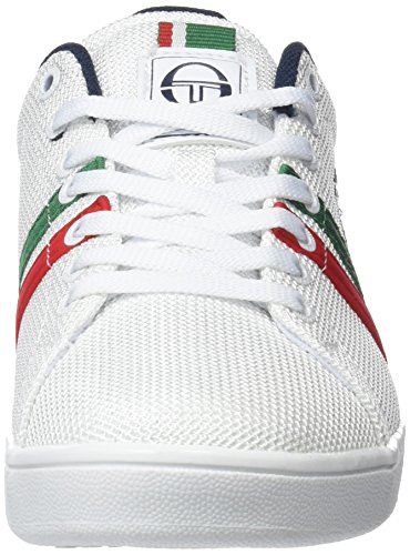Sergio Tacchini Ghibli MSH, Baskets Homme Blanc (White/Green/Red 04)