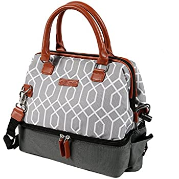 Arctic Zone 1528AMPR0423 Insulated Lunch Tote, Gray