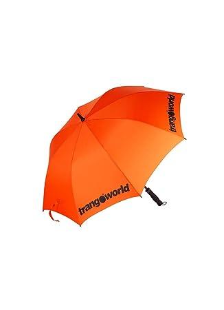 TRANGO Paraguas Storm, Unisex, Naranja/Negro, 30 cm