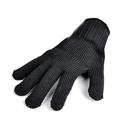 Remylady® 1 Stück Profi-Handschuh für Grill & Ofen Grillhandschuhe Ofenhandschuhe Hitzeschutzhandschuh Kochhandschuh Schwarz (Schwarz-normale dünne)