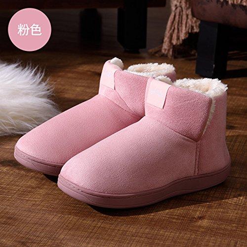 uomini e alta inverno Rosa3 pantofole colore pantofole DogHaccd donne morbidi spessi morbido le pantofole con indoor gli aiutare Caldo inverno cotone solido di pacchetto coppie 7SwqOwzx