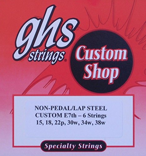 GHS Custom Lap Steel Guitar Strings - E7th-6 Strings, Gauges 15-38W - 1 Set String C6 Pedal Steel Guitar