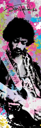 Rock Small Poster - Jimi Hendrix Colors Classic Rock Music Poster Print 12x36
