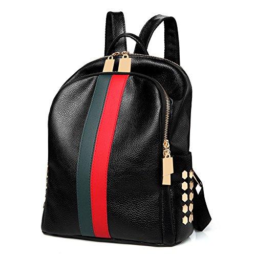 Mynos - Bolso mochila  de Otra Piel para mujer rojo y blanco