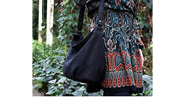FYH Textured Fashion Casual Cool Crossover Bags Sack Satchel Black Handbag