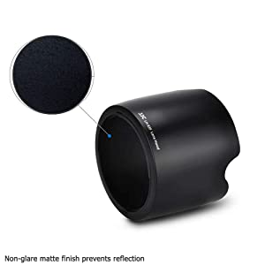 Camera Lens Hood Shade for Canon EF 24-70mm f/2.8L USM Lens Replaces Canon EW-83F Lens Hood no Vignetting Reverse Attaching -Black