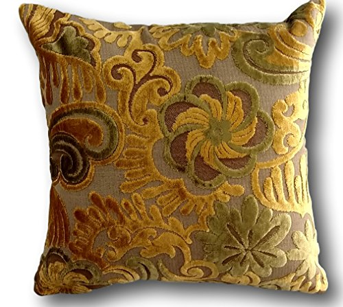 - Tache Home Fashion Velvety Embossed Cushion Covers (Hidden Spring Forest, 1)