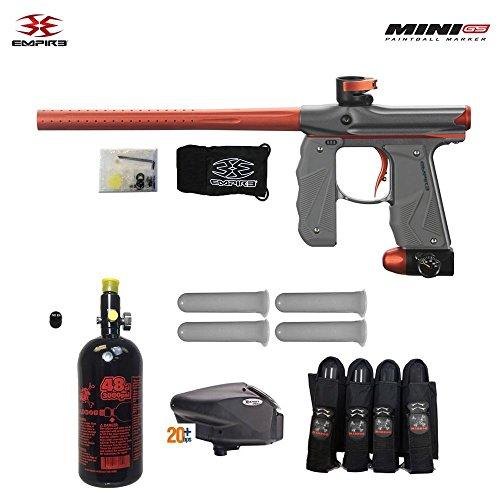 (Empire Mini GS Advanced HPA Paintball Gun Package - Dust Grey/Orange)