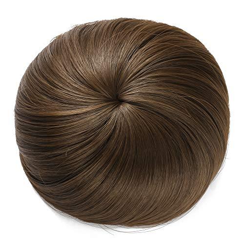 Onedor Synthetic Fiber Hair Extension Chignon Donut Bun Wig Hairpiece (8A - Light Chestnut Brown) ()