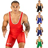 Elite Sports New Item Standard Wrestling Singlet (Red, 2XL)