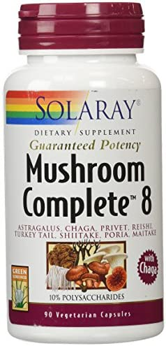 Solaray Mushroom Complete 8 Supplement, 90 Count