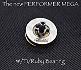 MetonBoss Spinning Tops - Tungsten Rotor / Precision Milled Titanium Core with Ruby Bearing | Everyday Carry Birthday Gift Ideas | Collectable Fidget (Performer MEGA)