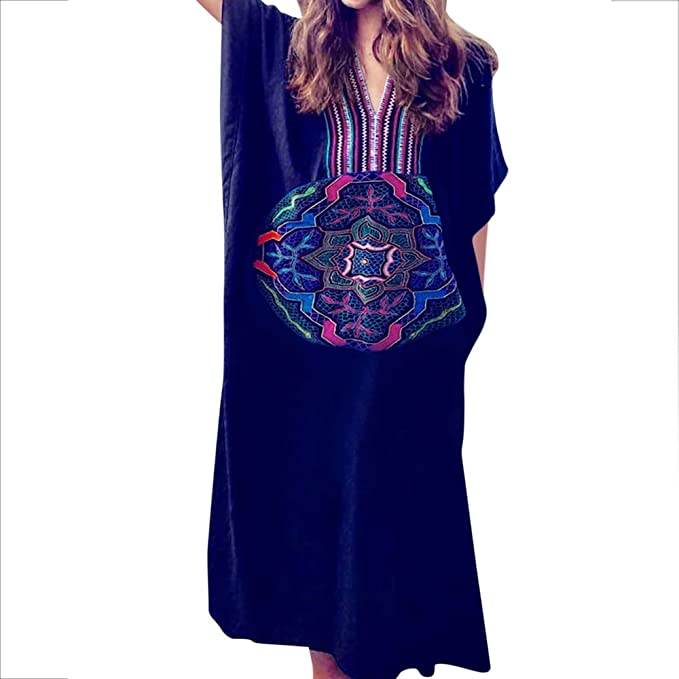 d9100b5de7 Image Unavailable. Image not available for. Color: MOOSLOVER Women's Floral  Flowy Kimono Cover Up Cardigan Long Rayon Beach Dress(Black)