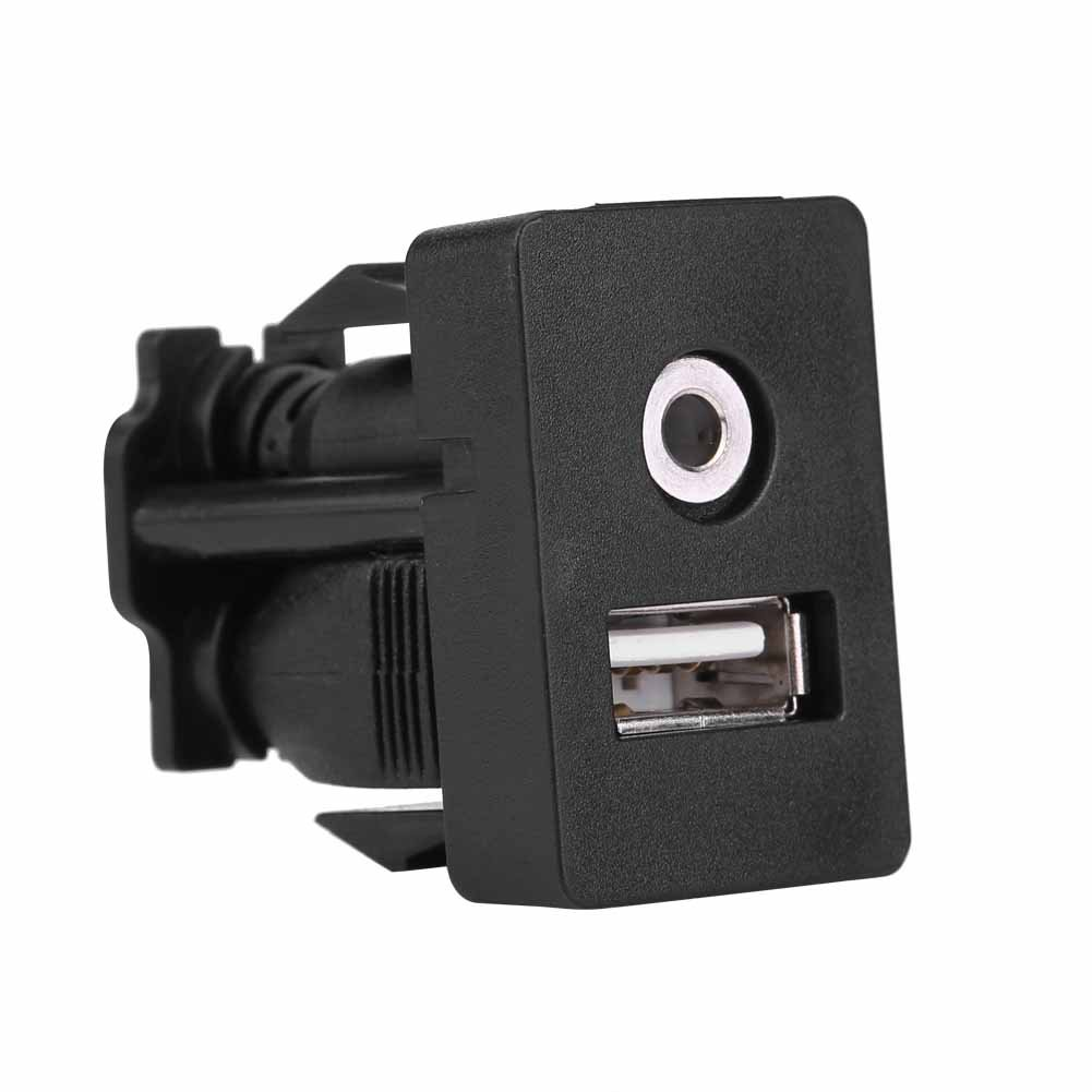 3.5mm AUX Extension Mount Car Boat Dash Flush Mount Puerto USB 3.5mm AUX Jack Extension Cable Lead Mounting Panel