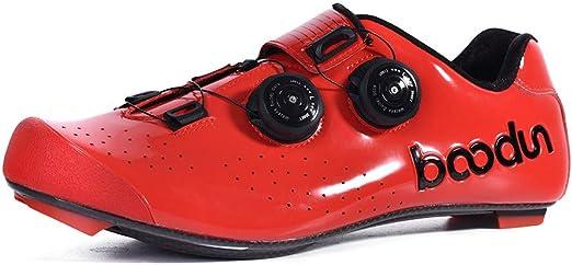 DRAKE18 Zapatillas de Ciclismo de Ruta, Fibra de Carbono Bicicleta ...