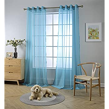 Amazon Com Grommet Semi Sheer Curtains 2 Pieces Total