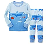 Dreamaxhp Shark Little Boys' Cotton Sleepawear Pajamas Set, Blue (9T)