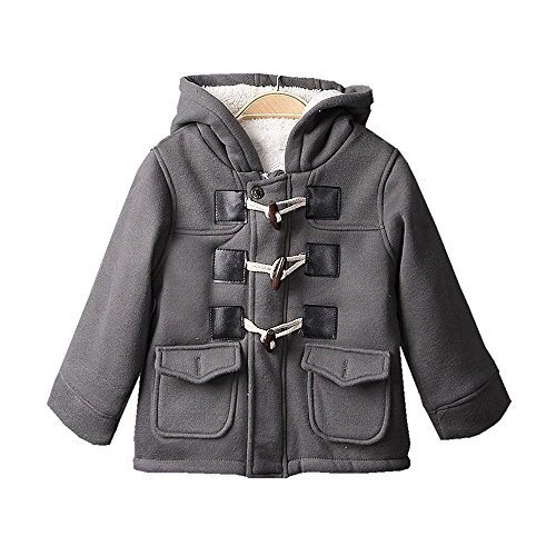Baby Boys Cotton Fleece Hooded Jacket Outerwear Duffle Coat (12-18 Months, ()