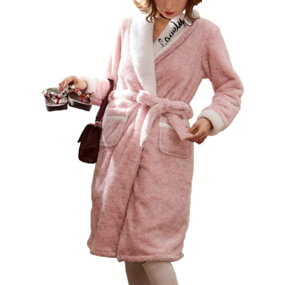 Bata De Ni/ña Bata De Ba/ño Engrosamiento Bata Largo Oto/ño Invierno Pijamas Calientes Hogar Loungewear