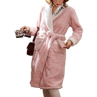 Bata De Niña Bata De Baño Engrosamiento Bata Largo Otoño Invierno Pijamas Calientes Hogar Loungewear: Amazon.es: Ropa y accesorios