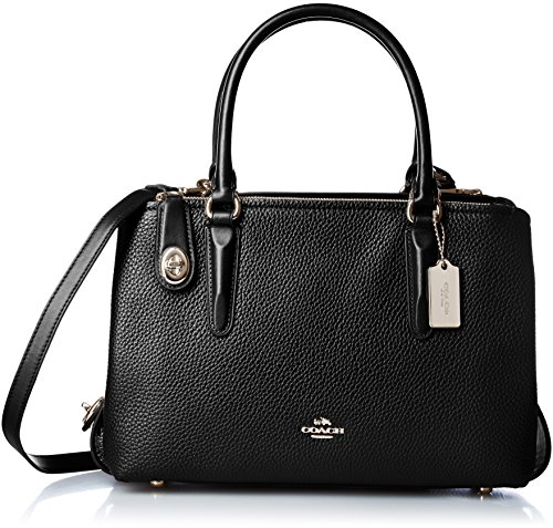 COACH Women's Pebbled Brooklyn 28 Carryall LI/Black Satchel