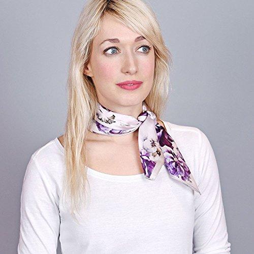 Foulard De 50x50 Lyria Allée Cm Carré Piccolo Du Violet Soie P5fWfqOxAw