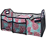 NGIL Southern Summer Pineapple 3 Compartment Expandable Trunk Organizer