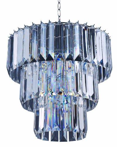 Park Madison Lighting PMC-6703-CL 4-Light Clear Acrylic C...