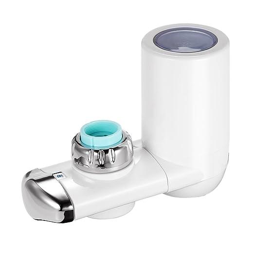 decdeal grifo agua Filtro ABS 3 agua Carbón Activo + Cerámica ...