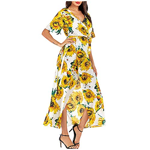 iHPH7 Dresses for Women Casual Summer Dresses for Women Party Long Dress Wedding Dresses Long Gown Dresses for Women Long Gown Gown Dresses for Women (XL,7- Yellow)