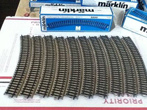 MARKLIN HO M Tracks All Metal Wide Curves 5200 (10PCS.)