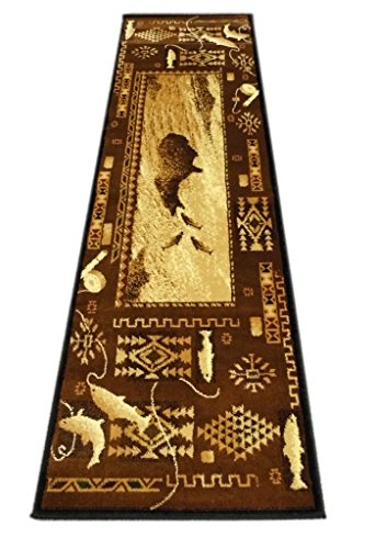 Runners Western Rug - Cabin Style Area Rug Runner 2 Feet 2 Inch X 7 Feet 2 Inch Design # L-381