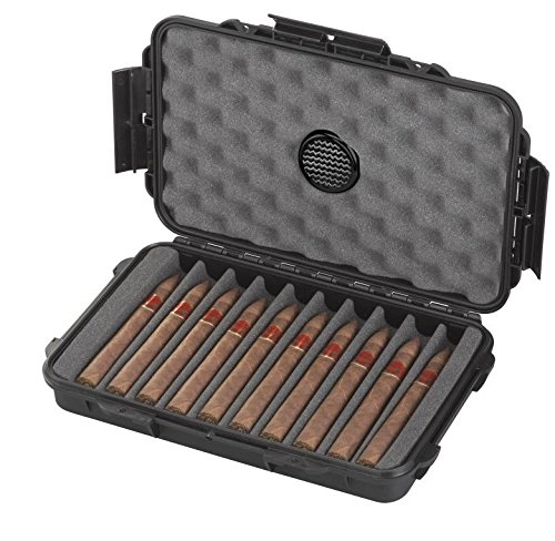 Home or Travel Cigar Humidor Waterproof dust-proof Cigar Case With Pressure Equalization Valve to Keep your cigars safe during Flight by Elephant Cases (Image #2)
