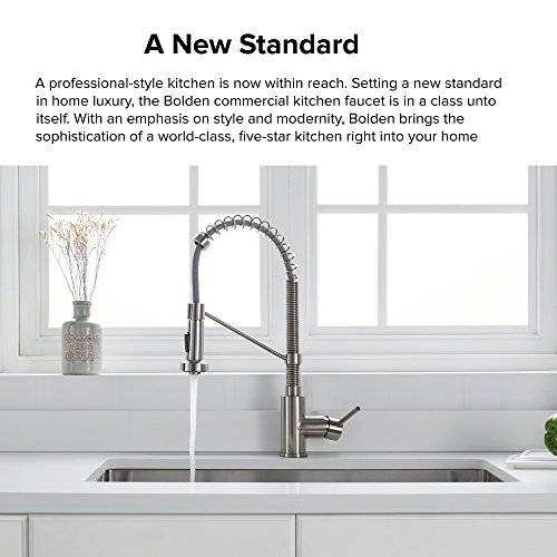 Kraus KPF 1610SS Bolden Single Handle 18 Inch Commercial Kitchen Faucet  With Dual Function Pull Down Sprayhead Finish, Stainless Steel      Amazon.com